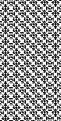 黑白华丽花纹雕刻图案