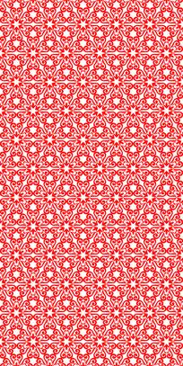 红色花样纹雕刻图案