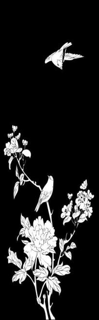 花开富贵雕刻图案
