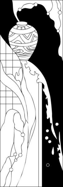 花纹瓶子雕刻图案