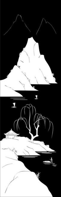 湖光十色雕刻图案