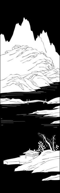 江山如此多娇雕刻图案