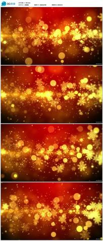金黄色雪花背景视频