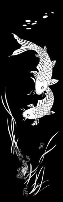 吉祥有鱼雕刻图案
