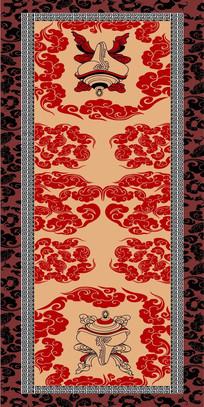 蒙古印花图案