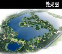 滨河新区湖景观鸟瞰图