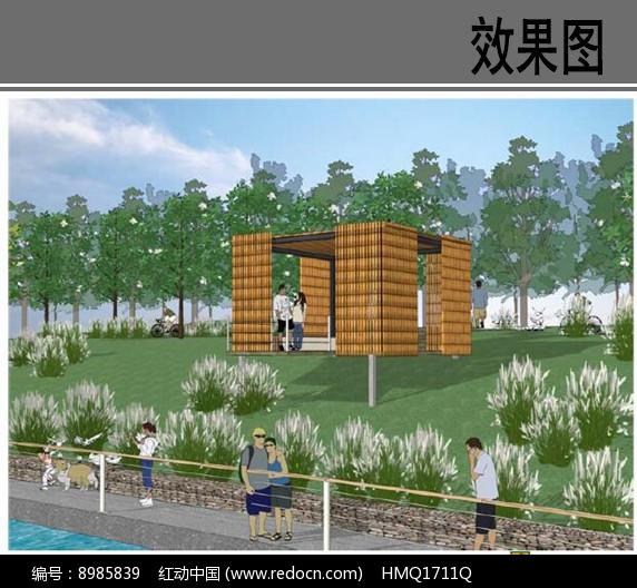 滨水景观盒方案设计效果图图片
