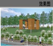 滨水景观盒方案设计效果图