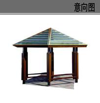玻璃屋顶凉亭素材