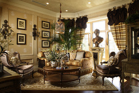充满古典气息的客厅效果图
