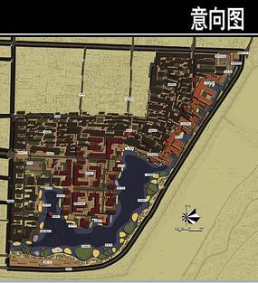 古城东南角公园平面图