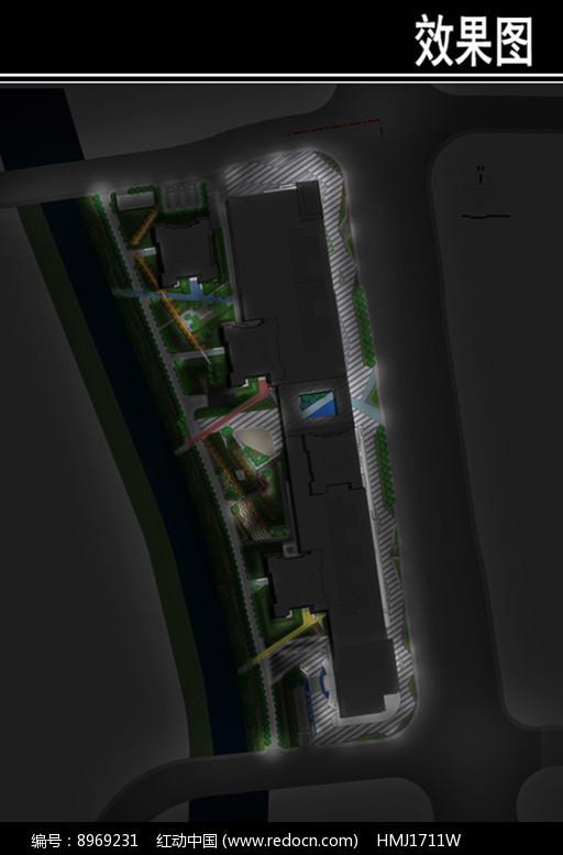国际某城入户体验区夜景效果图图片