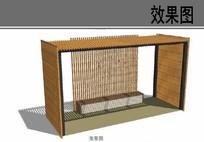 景观休息廊架方案设计效果图