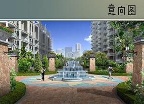 居住区叠水喷泉水景