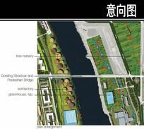 美国某滨水城市化工厂平面图