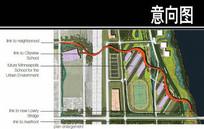 美国某滨水城市体育场平面图