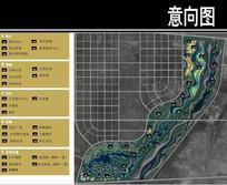 某滨河城市文化公园总平面图