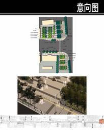 某府前街东入口皮影广场设计