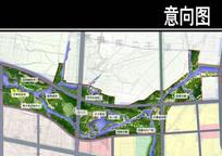 某公园湿地城市公园段平面图