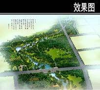 某公园湿地生态公园段鸟瞰图