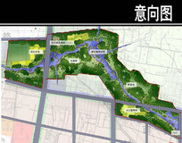 某公园湿地生态公园段平面图