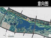 某河生态走廊文化公园总平面图