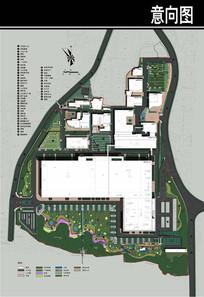 某卷烟厂规划总平面图
