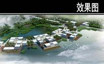 某生态公园中华美食街鸟瞰图