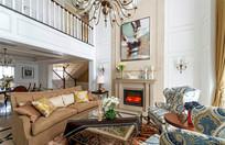 欧式复层别墅客厅设计装修