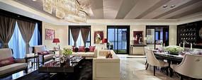 欧式开放式客厅设计装修