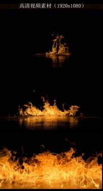 汽油起火全过程视频素材