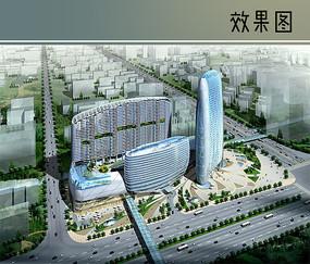 商业城建筑鸟瞰图