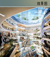 商业城室内景观设计图 JPG