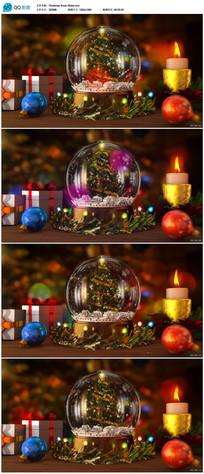 圣诞透明水晶玻璃球 视频