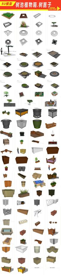 树池植物箱模型
