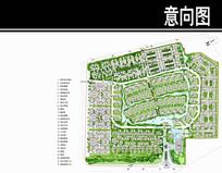泰式风格居住小区景观平面图