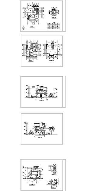 现代欧式别墅建筑CAD