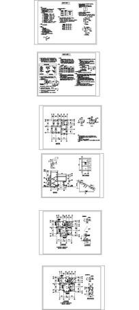 现代欧式别墅建筑结构CAD