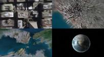 宇宙空间推拉镜头视频