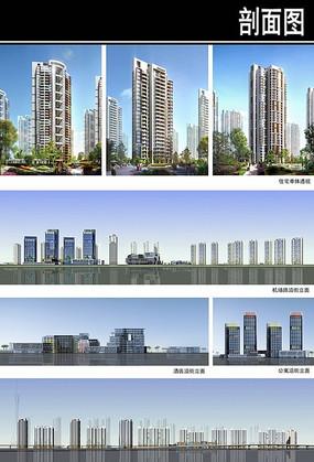 郑州某住宅区规划建筑立面