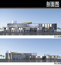 郑州某住宅区规划商业街立面图