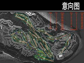 重庆市某公园高尔夫球场路规划