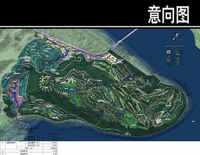 重庆市某公园规划总平面图