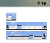 中式大门立面图