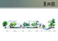 中式景观剖面图