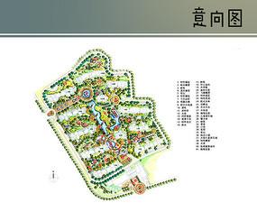 住宅区手绘平面图 JPG