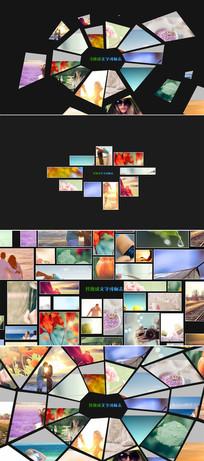 3组照片墙马赛克标志展示模板