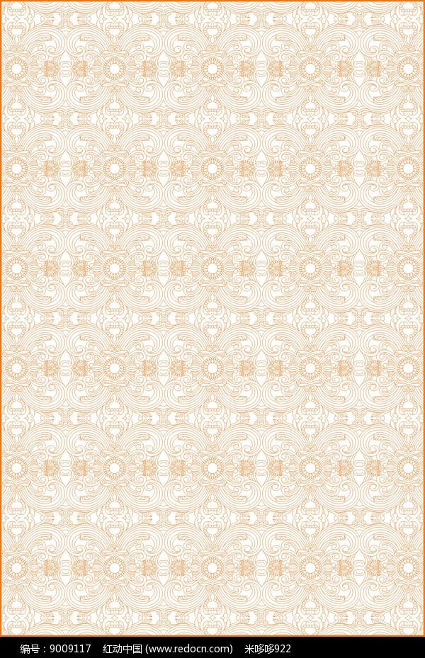 传统卷草花纹雕刻图案图片