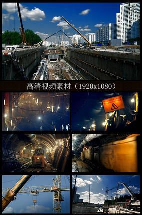 地铁工人施工宣传片视频素材