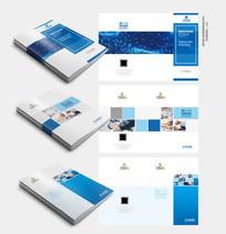 蓝色科技封面模版 PSD